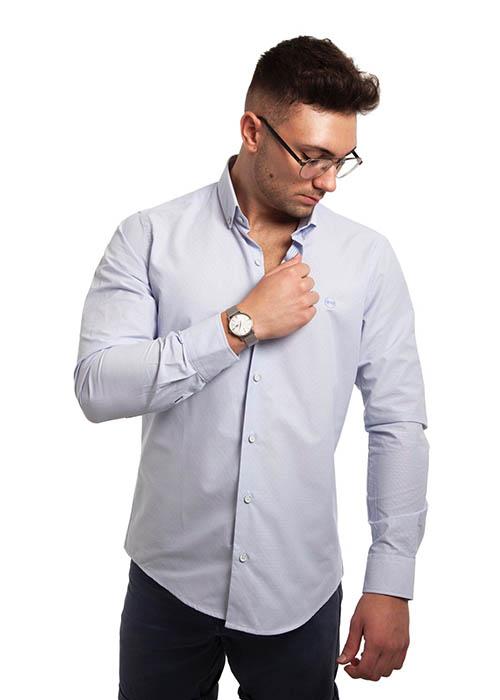 Camisa Azul Dibujo 1