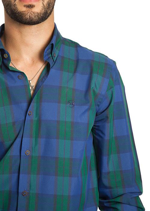 Camisa Cuadros Verde y Azul 2
