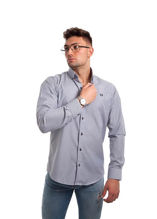 Camisa Rayas Marino 1
