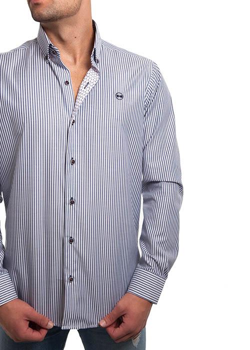 Camisa Rayas Marino 2