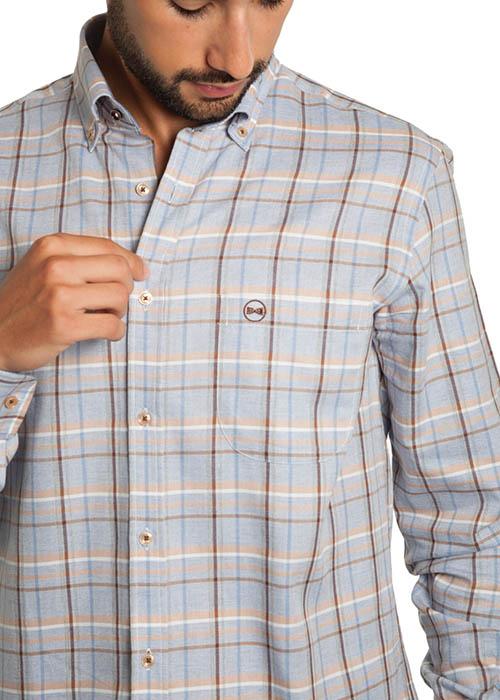Camisa Viyela Gris 2