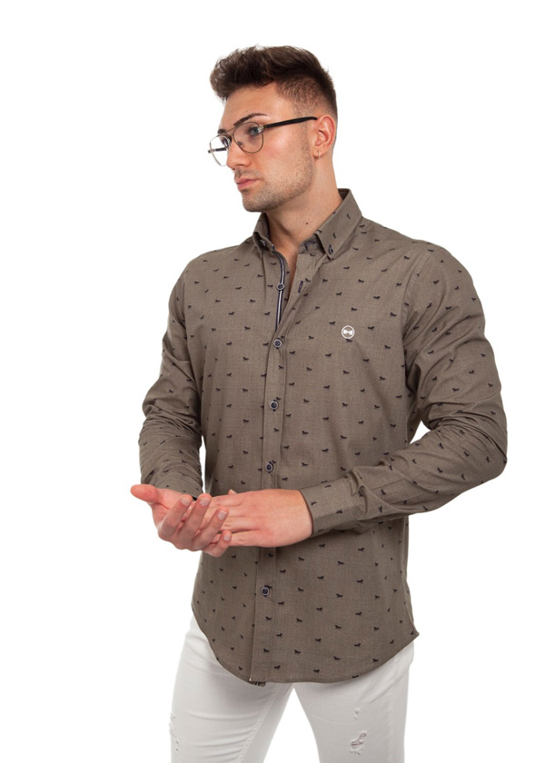 Camisa Estampada Caballos 1