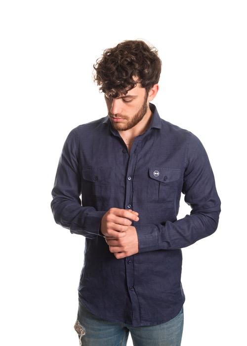 Camisa Tasche Blu 1