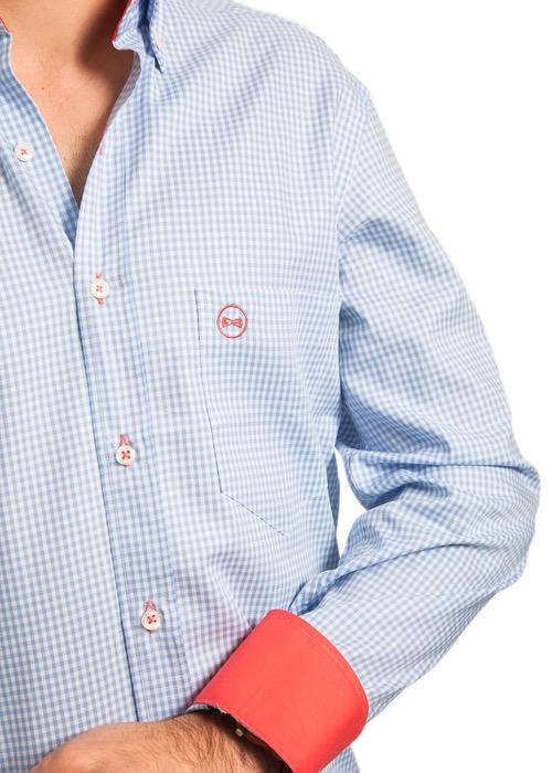 Camisa Cuadro Vichy Celeste 2