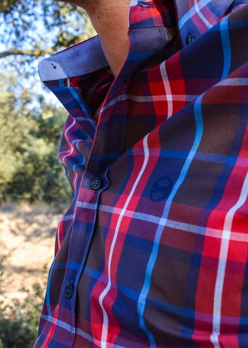 Camisa Cuadros Marrón/Rojo/Azul 2