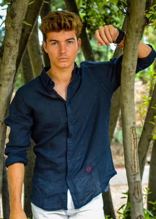 Camisa Lino Marino 1