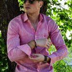 Camisa Lino Rosa 3