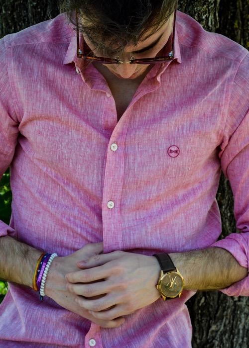 Camisa Lino Rosa 2