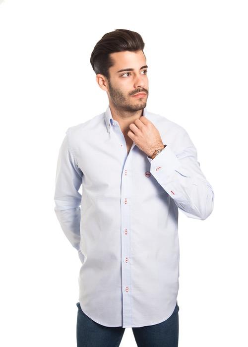 Camisa Lisa Celeste 1