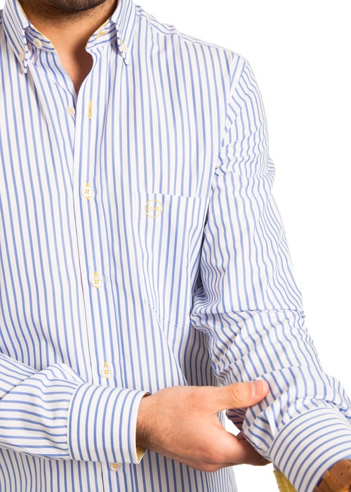 Camisa Rayas Celeste 2