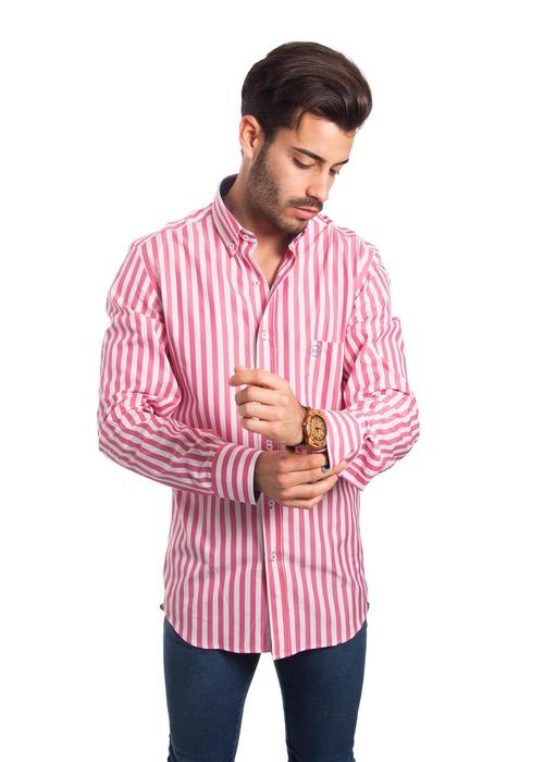 Camisa Rayas Rosas 1