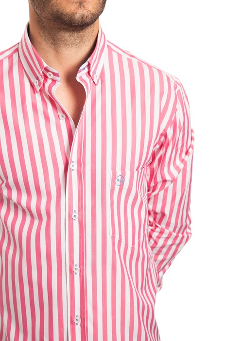 Camisa Rayas Rosas 2