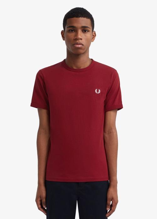 Camiseta Básica Granate 1