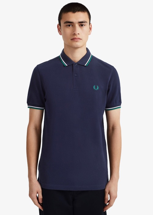 Polo Fred Perry Azul M3600 1