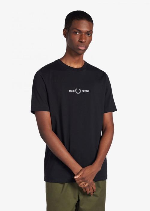 Camiseta Fred Perry Negra 1