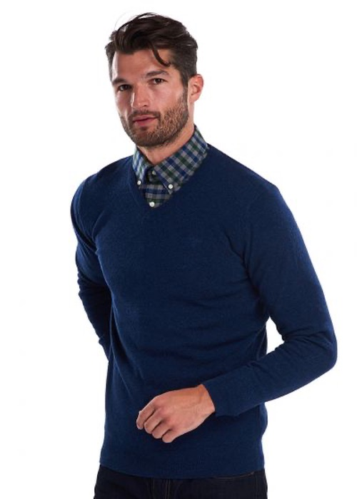 Jersey Essential Lambswool Pico Azul 1