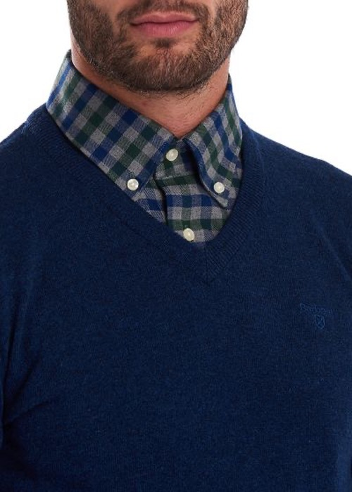 Jersey Essential Lambswool Pico Azul 3