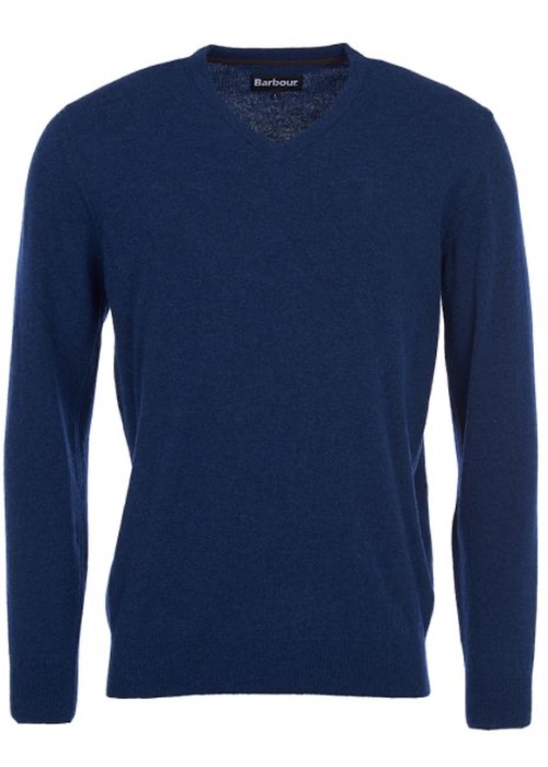 Jersey Essential Lambswool Pico Azul 2